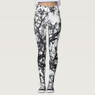 Black and White Abstract Leggings