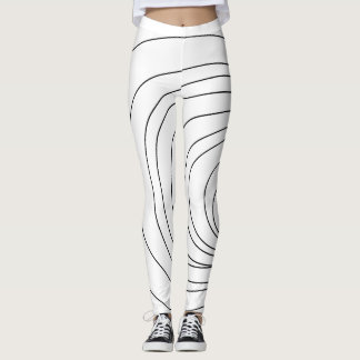 Black and White Abstract Lines Leggings