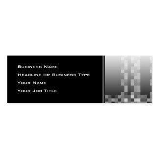 Black and White Abstract Modern Design. Pack Of Skinny Business Cards