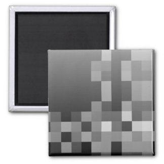Black and White Abstract Modern Design. Square Magnet