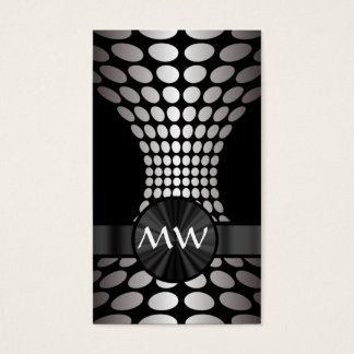 Black and white abstract monogram