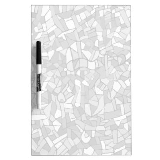 Black and white abstract mosaic dry erase board