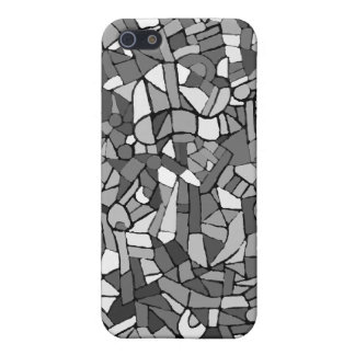black and white abstract mosaic iPhone 5/5S cases