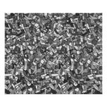 Black and white abstract mosaic poster