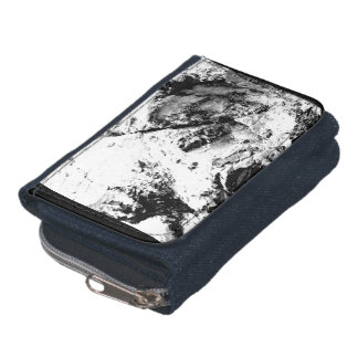 Black and white abstract nature rocks wallet