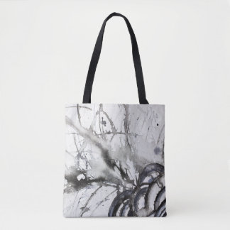 Black and White Abstract Original Grey Painting Tote Bag