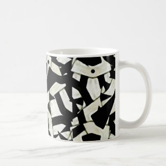 Black and White Abstract Ornament Pattern Coffee Mugs