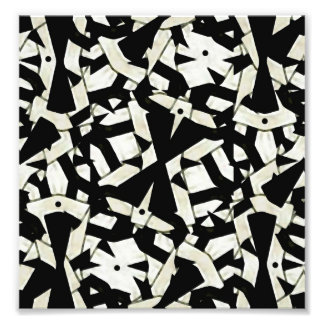 Black and White Abstract Ornament Pattern Photograph