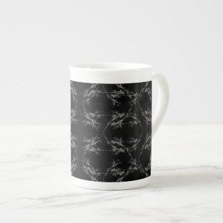 Black and White Abstract Pattern Bone China Mug