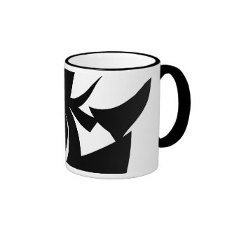 Black and White Abstract Pattern. Coffee Mugs