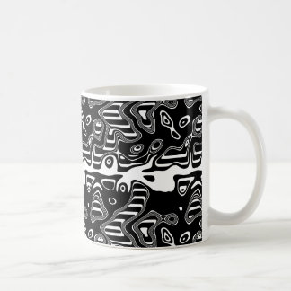 Black and White Abstract Pattern Coffee Mug