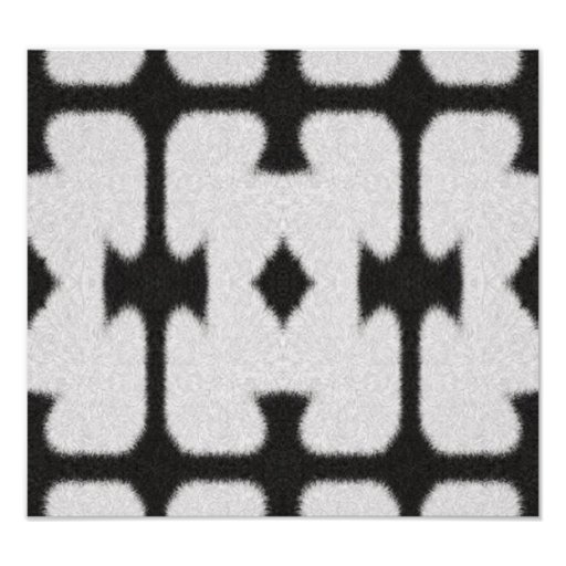 Black and white abstract pattern photo