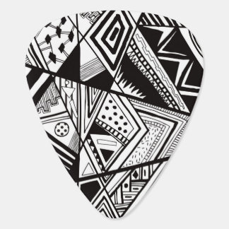 Black and white abstract pattern plectrum