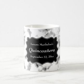 Black and White Abstract Pattern Quinceanera Coffee Mug