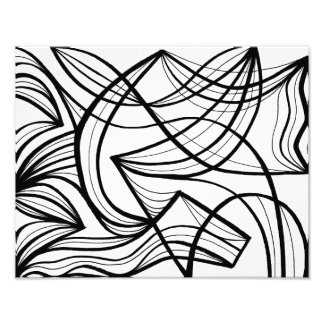 Black and White Abstract Photo Art