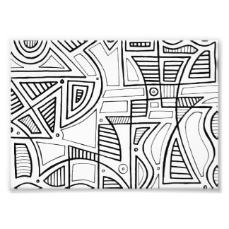 Black and White Abstract Photographic Print