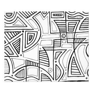 Black and White Abstract Photo Print