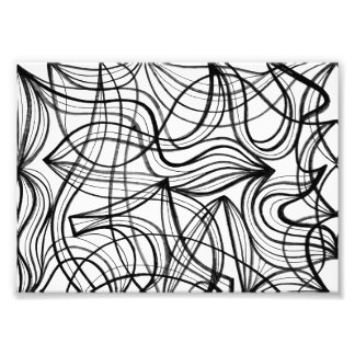 Black and White Abstract Art Photo