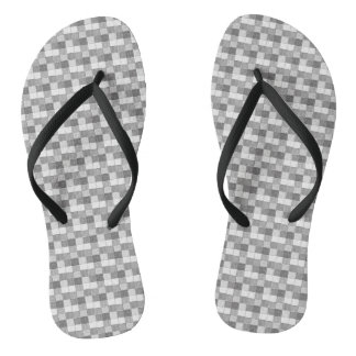 Black and White Abstract Print Flip Flops