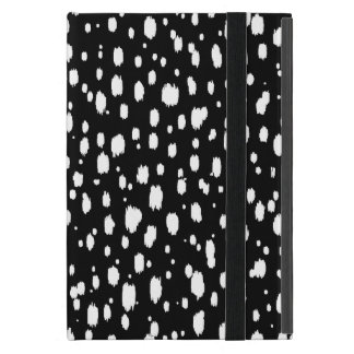 Black and White Abstract Scattered Dots Cover For iPad Mini