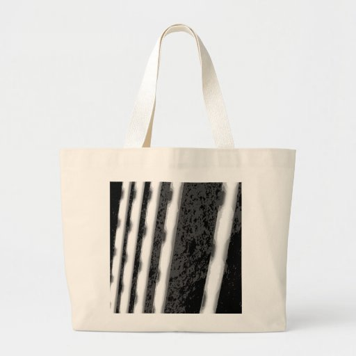 Black and White Abstract Stripes. Tote Bags