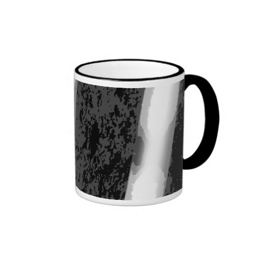 Black and White Abstract Stripes. Coffee Mugs
