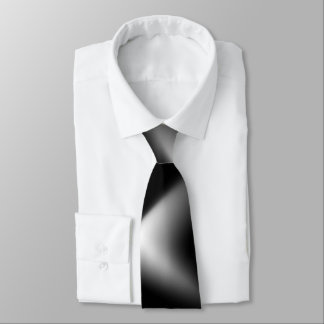 Black and White Abstract Tie