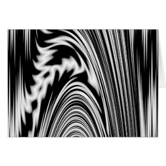 Black and White Abstract Twist Greeting Card