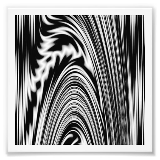 Black and White Abstract Twist Photo Art