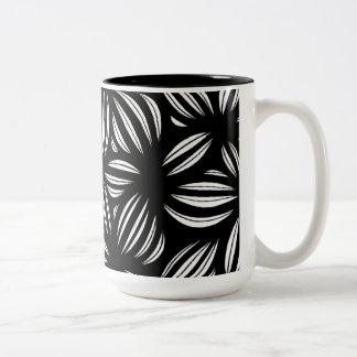 Black and White Abstract Two-Tone Mug