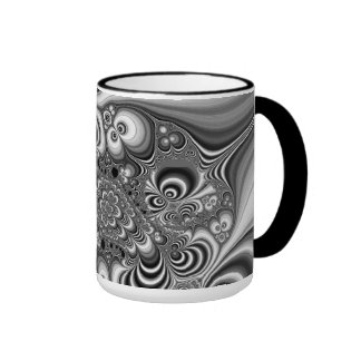 Black and White Abstract With Circles Coffee Mug