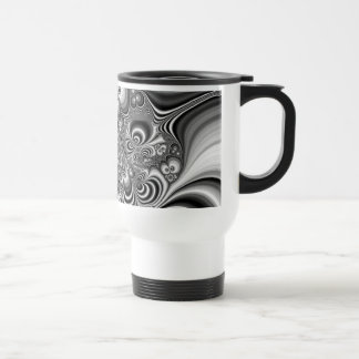 Black and White Abstract With Circles Coffee Mugs