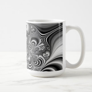 Black and White Abstract With Circles Mugs