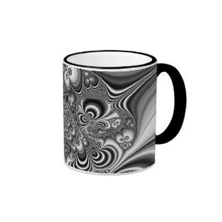 Black and White Abstract With Circles Mug
