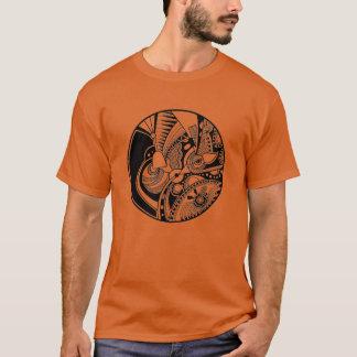 Black And White Abstract Zendala On Circle T-Shirt