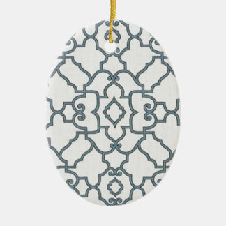 Black and White Accessories Ceramic Oval Decoration