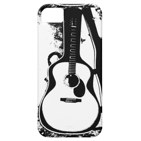 """Black and White Acoustic Guitar Case"" Case For The iPhone 5"