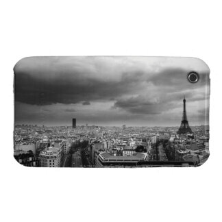 black and white aerial view of an overcast sky iPhone 3 cover
