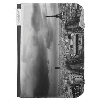 black and white aerial view of an overcast sky kindle folio case