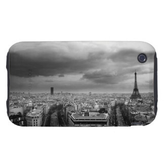 black and white aerial view of an overcast sky iPhone 3 tough covers