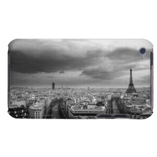 black and white aerial view of an overcast sky iPod Case-Mate cases