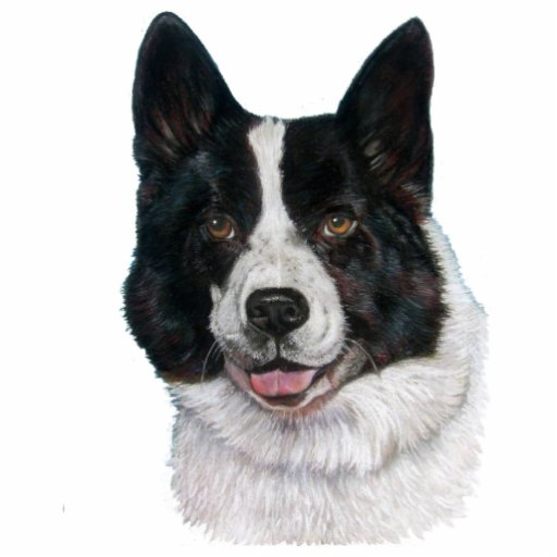 black and white akita portrait sculpture keychain acrylic cut outs