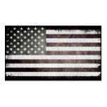 Black and White American Flag Pack Of Standard Business Cards