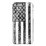 Black and White American Flag iPhone 6 case