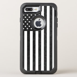 Black and White American Flag OtterBox Defender OtterBox Defender iPhone 7 Plus Case