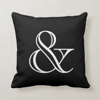 Black And White Ampersand Cushion