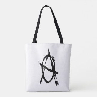 Black and White Anarchy Tote