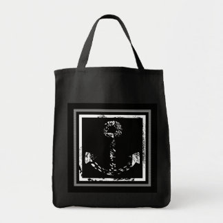 Black and white Anchor Fine Art Tote Bag