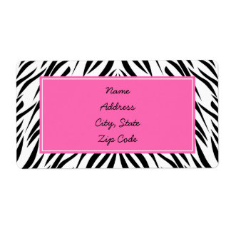 Black and White and Hot Pink Zebra Print