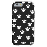 Black and White Animal Paw Pattern. iPhone 6 Case